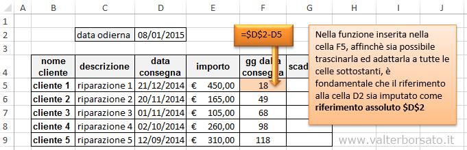 Excel pagamenti e scadenze cambio di colorazione dei for Scadenze di pagamento