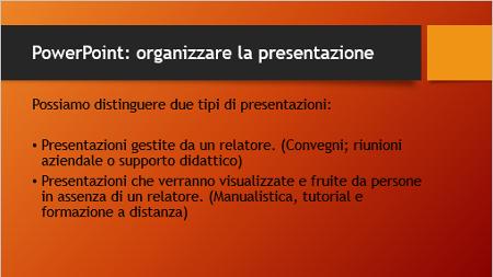 presentazione powerpoint da
