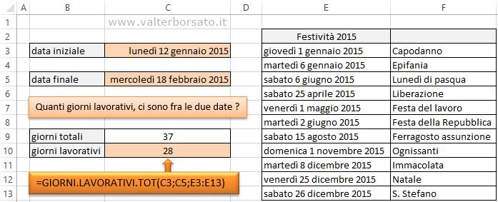 Calcolo Giorni Calendario.Calcolare I Giorni Lavorativi In Excel Come Applicare Le