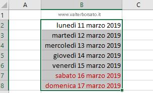 Controllo Calendario Excel 2020.Creare Una Agenda Con Excel Per Inserire Appuntamenti