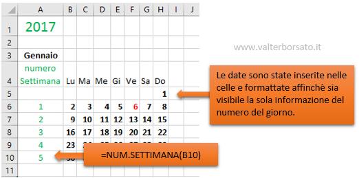 Calendario Solo Numeri.Creare Un Calendario Personalizzato Con Excel Come Creare