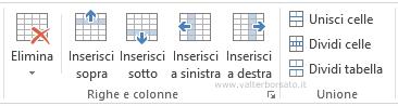 Word | Inserire eliminare righe e colonne nelle tabelle