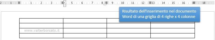 WORD | Inserimento griglia tabelle Word